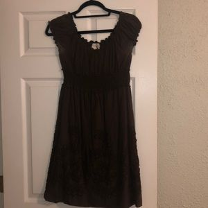M.S.S.P Embroidered brown dress - Women's size M